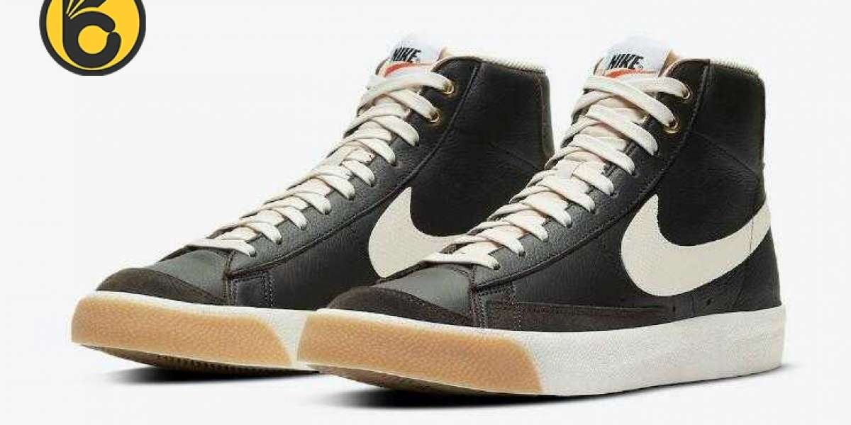 New Release Nike Blazer Mid Black Brown Leather for Sale