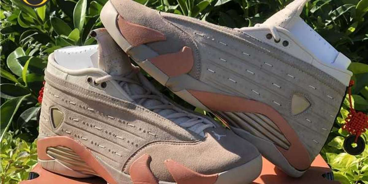 New 2021 CLOT X Air Jordan 14 Low Sepia Stone DC9857-200
