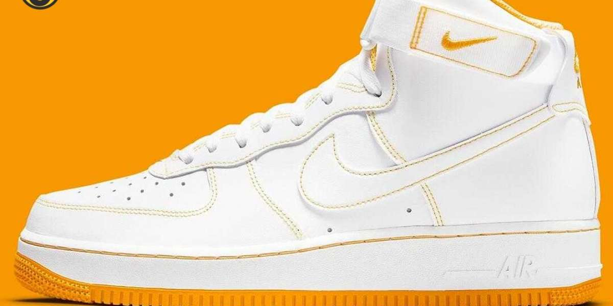 New Released Nike Air Force 1 High White Laser Orange for Sale