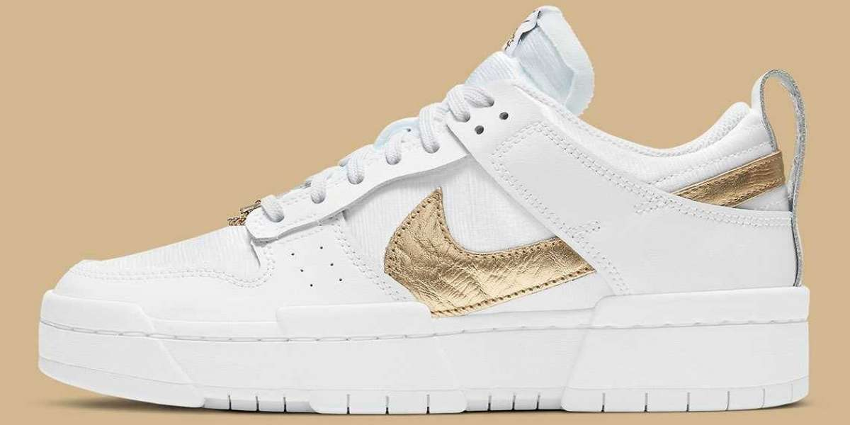 "Nike Wmns Dunk Low Disrupt ""Metallic Gold"" 2021 New Arrival DD9676-100"
