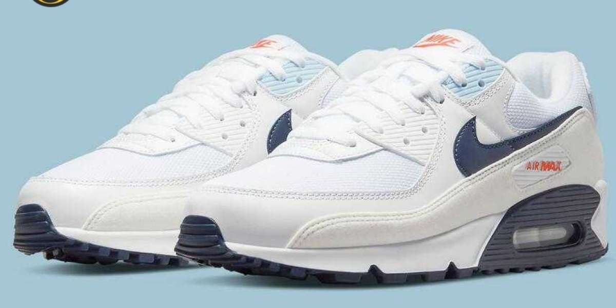 Latest Navy-Accented Air Max 90 Get Features Fleece-Like Mudguards