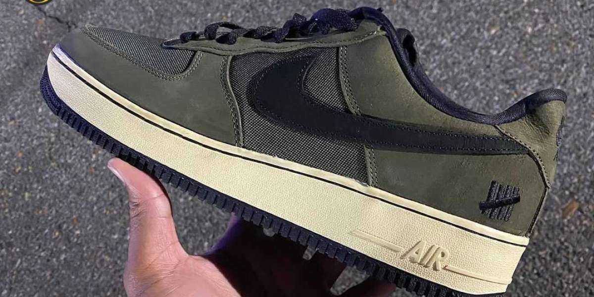 """Brand New 2021 Undefeated x Nike Air Force 1 """"Ballistic"""" Sneakers"""
