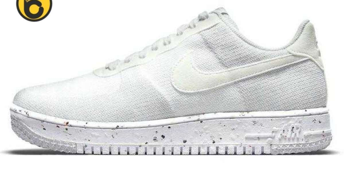 New Air Force 1 Crater Flyknit Debut a Clean All-White Colorway